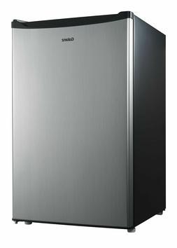 Galanz 4.3 cu ft Compact Single-Door Refrigerator, Stainless