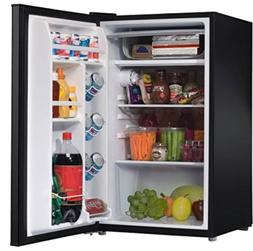 Compact Single-Door Refrigerator 3.5 cu ft Black Galanz Mini