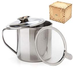cooking oil bacon grease container