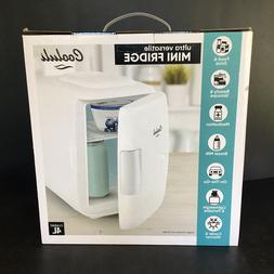 Cooluli White Mini Fridge Electric Cooler & Warmer 4L 6Can A