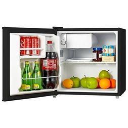 Dorm Room Mini Fridge Combo Black 1.6 Cu-Ft Compact Freezer