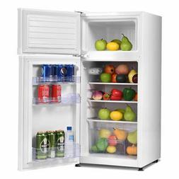 Double Doors Unit Mini Refrigerator Freezer Cooler Fridge fo