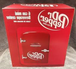 Dr. Pepper 6 Can Mini Refrigerator Retro Fridge Beverage Cen