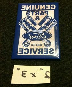 Ford Genuine Parts Service Tin Ice Box Magnet Fridge Refrige