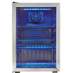 Danby Free Standing Cooler 17.5 in 95 Can Blue LED Lighting
