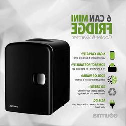 Gourmia GMF600 Thermoelectric 4 Liter 6 Can Mini Fridge Cool