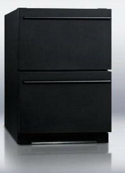 Haier 5.5 Cu Ft. Aficionado 2 Drawer Refrigerator C122 Black