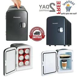 Handy Personal Mini Fridge and Warmer in Black Without Freez