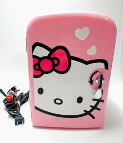 hello kitty retro portable mini fridge w