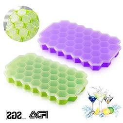 Ice Cube Trays Silicone DaCool Ice Mold with Lids 2 Packs 74