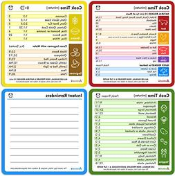 Instapot Cheat Sheet Magnet Set  | 4 Easy Reference Popular