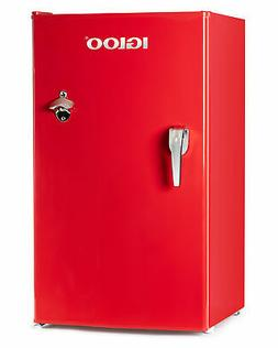 Igloo IRF32RSRD Classic Compact Refrigerator Freezer with Ch