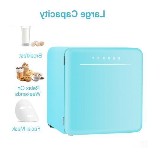 1.6 Ft Fridge Refrigerator Freezer w/ Chilling Box Blue