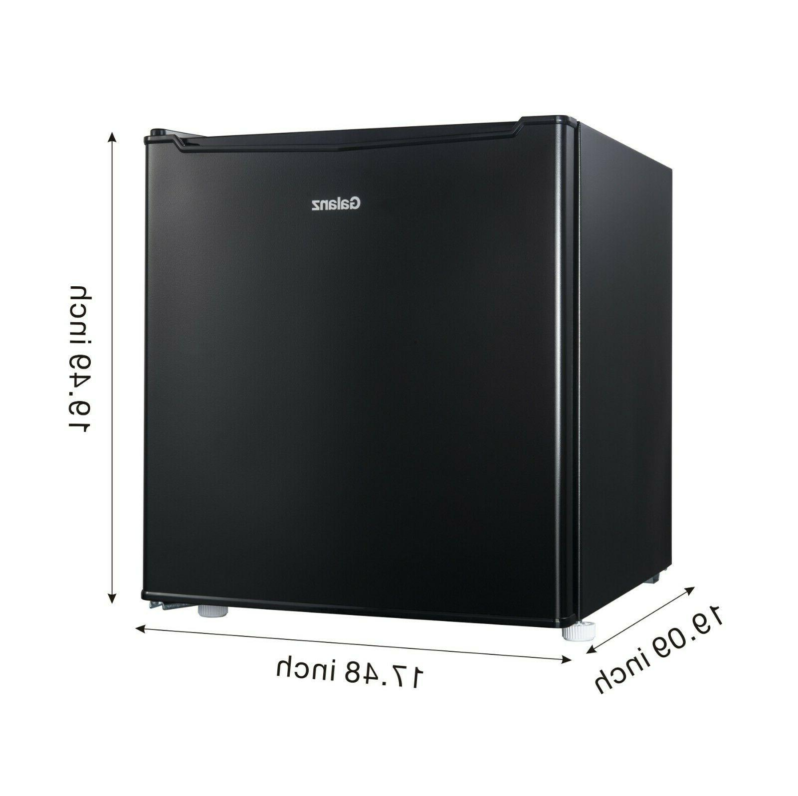 Ice Box  Black Single Door Mini Fridge Adjustable Thermostat