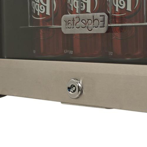 EdgeStar Can and 5 Beverage Cooler - Stainless Steel