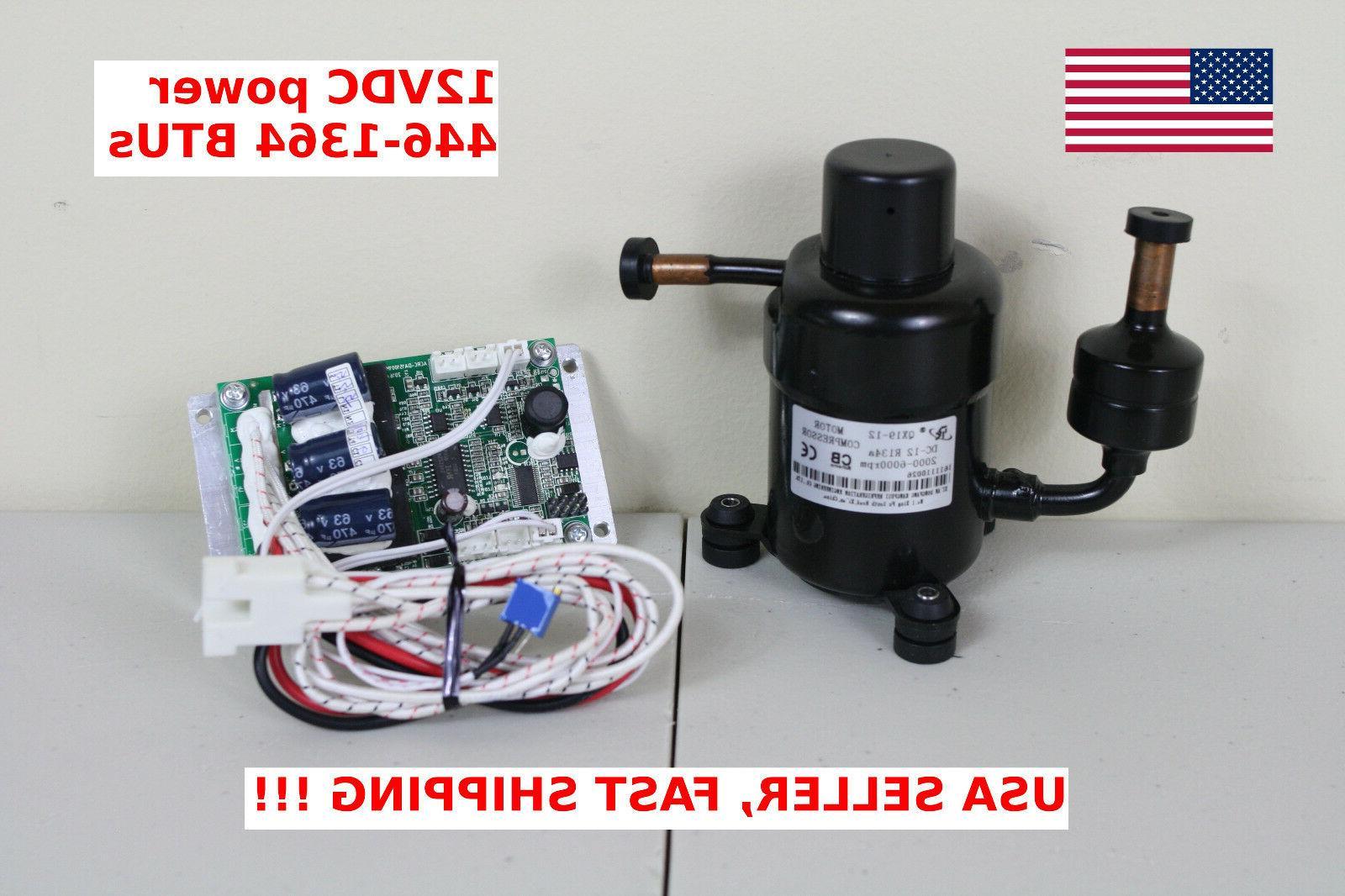 12V DC Mini Refrigeration Compressor Fridge Freezer Marine Solar QX19-12 R134a