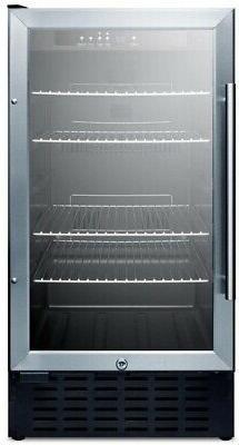 Summit Appliance 18 in 2.7 cu ft. Mini Refrigerator Glass Do