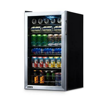 "19"" Can Beverage Cooler Fridge Stainless Steel Adjustable Sh"