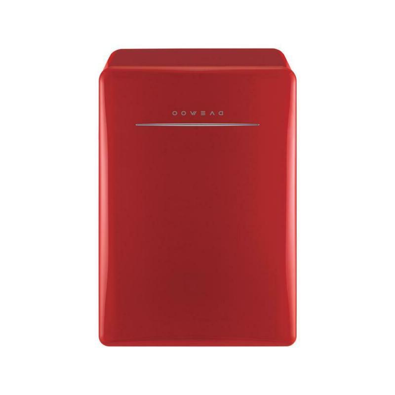 2.8 Cu. Ft. Retro Mini Fridge In Red Without Freezer