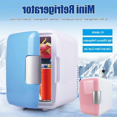 2 Colors Mini 4L Fridge Makeup Refrigerators Dual-Use for Ge