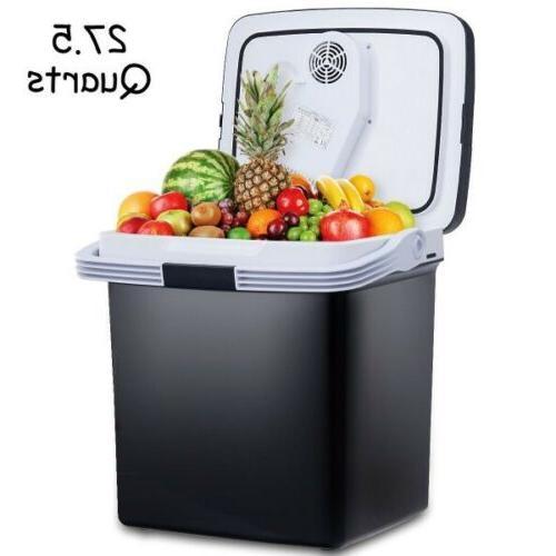 26l portable 12v electric cooler fridge food