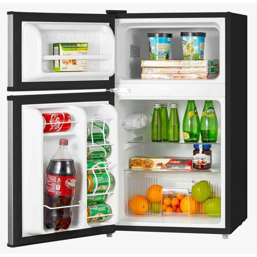 3.1 Cu Stainless Steel Freezer 2-Door Compact
