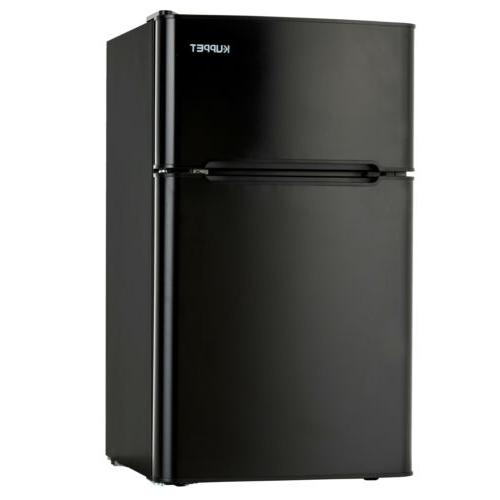 3.2 Cu Ft Mini Fridge Compact Refrigerator 2-Door Bottom Fre