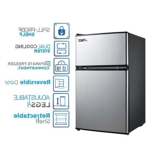 3.2 Mini Fridge Freezer Compact New
