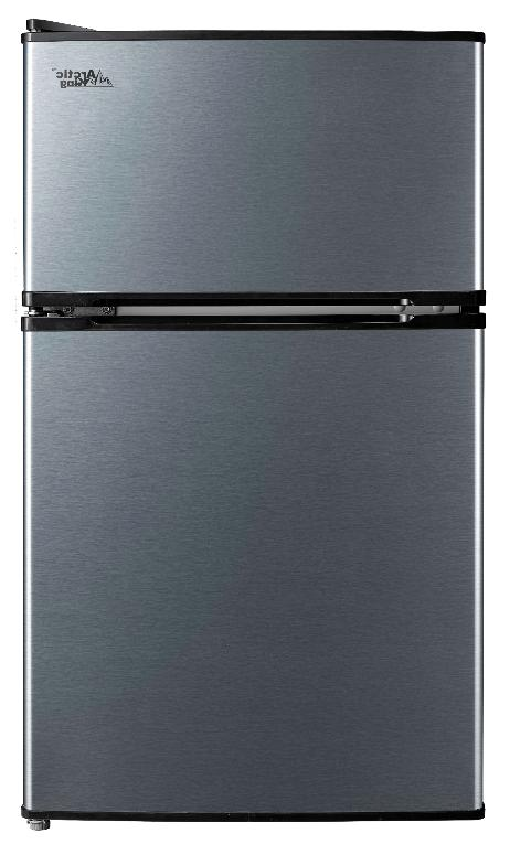 3.2 Cu Fridge Freezer Compact Stainless Steel New