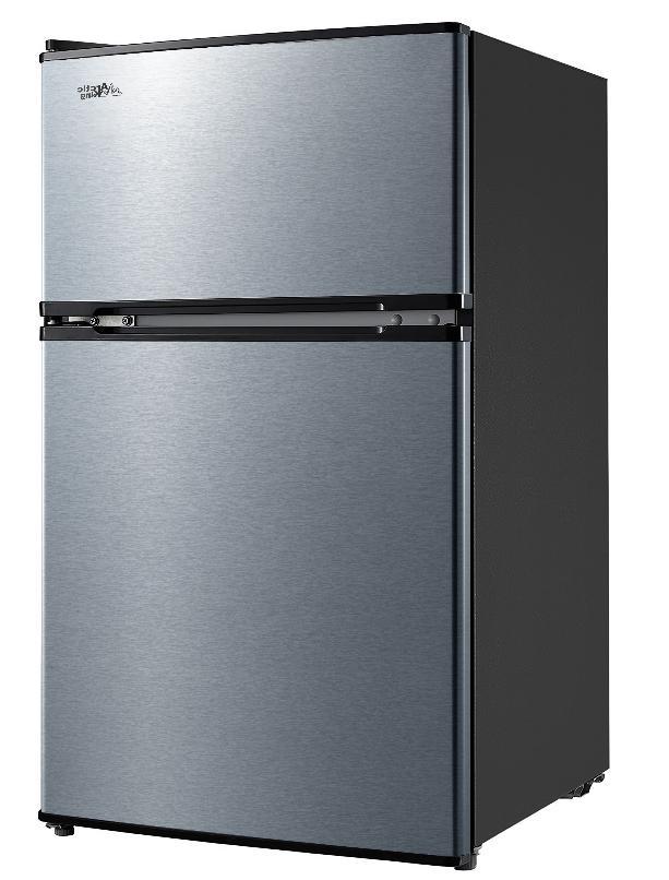 3.2 Mini Fridge Freezer 2 Compact Refrigerator Stainless New