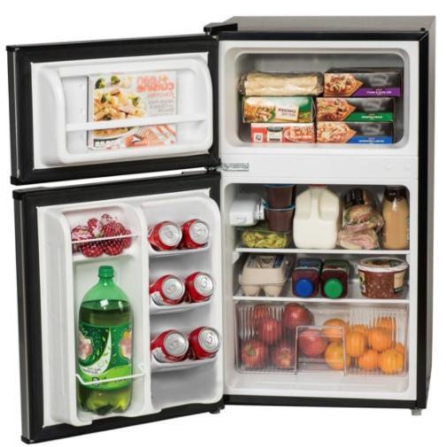 3.2 Ft Mini Refrigerator Cooler 2-Door New