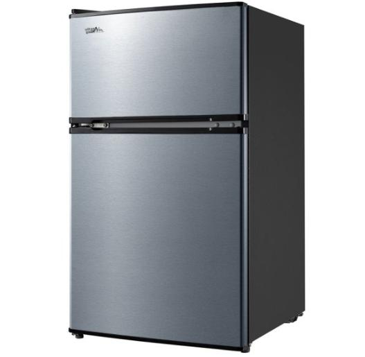 3.2 Ft Mini Freezer 2-Door Compact New