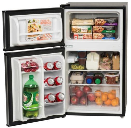 3.2 Cu Mini Refrigerator Cooler 2-Door Compact New