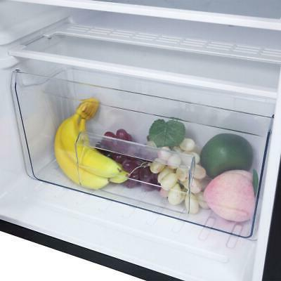 3.2 Cu Stainless Steel Fridge Freezer Refrigerator