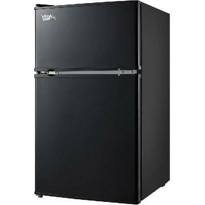 3.2 Cu Ft. Two Door Mini Fridge With Freezer Compact Adjusta