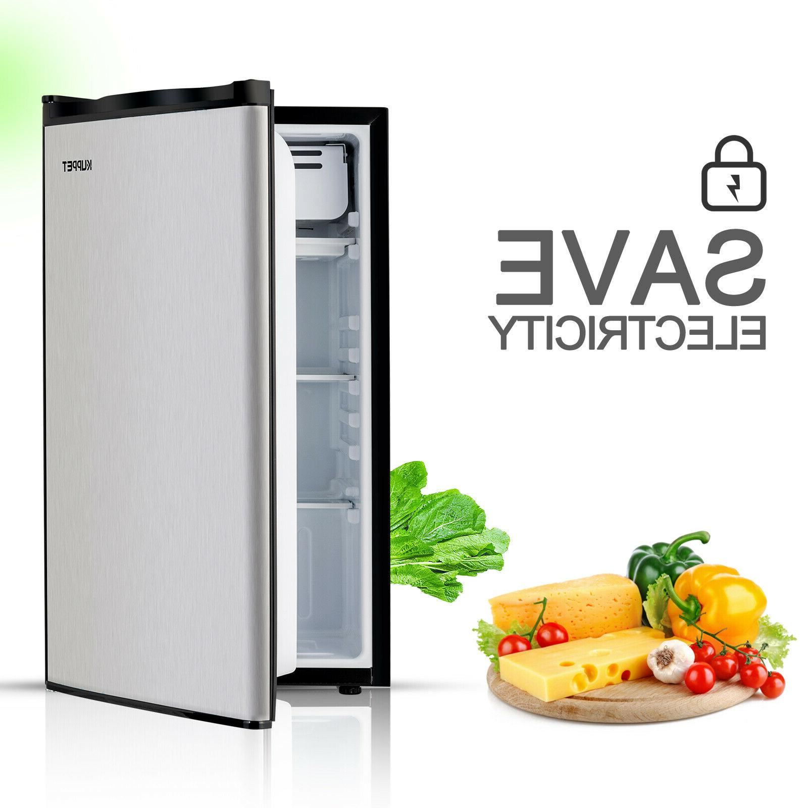 3.2 FT Mini Refrigerator Stainless