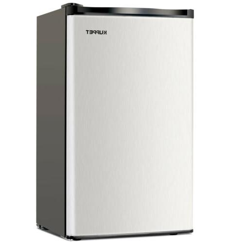 3.2 CU FT Refrigerator Compact Freezer Stainless Steel Freestanding