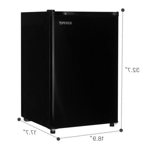 1.1 Cu Ft Mini Upright Small Refrigerator Stainless Black