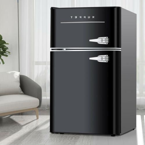 3.2 Cu.Ft 2-Door Compact Mini Refrigerator Retro Small Fridg