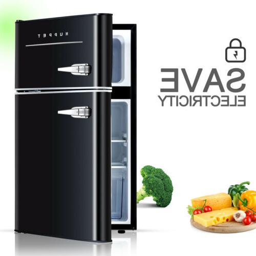 3.2 Cu.Ft Retro Fridge 2-Door Refrigerator Home
