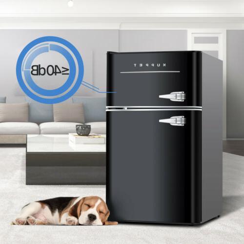 3.2 Retro Refrigerator Home Black