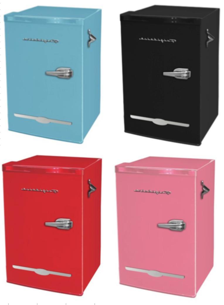 3 2 cu ft retro mini fridge