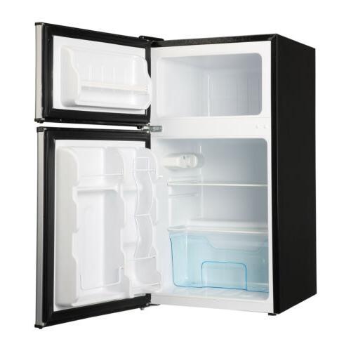 3.2 Ft Steel 2-Door Mini Freezer Compact Refrigerator