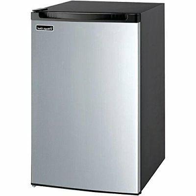 Magic Chef MCBR440S2 Refrigerator, 4.4 cu. ft, Stainless Ste