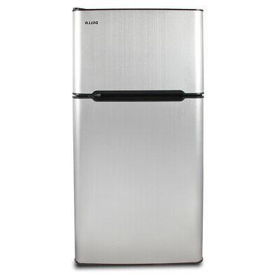 4.5 Fridge Compact Freezer Dorm Studio Stainless