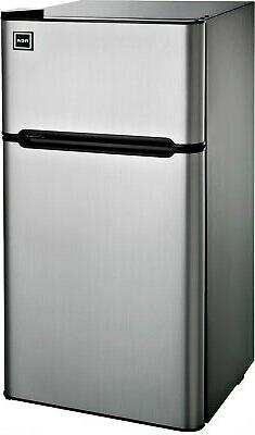 4.5 Cu Ft Two Door Mini Fridge with Freezer RFR459 Stainless