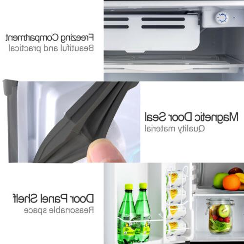 4.6 CuFt Mini Refrigerator Compact Freezer Freestanding Silver