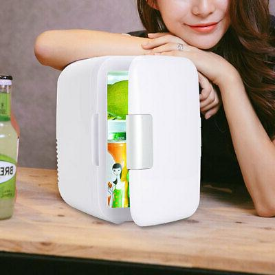Car Mini Fridge 4 Liter/6 Can Electric Cooler and Warmer Por