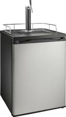 Insignia- 5.6 Cu. Ft. 1-Tap Beverage Cooler Kegerator - Stai
