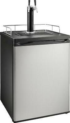 Insignia- 5.6 Cu. Ft. 2-Tap Beverage Cooler Kegerator - Stai